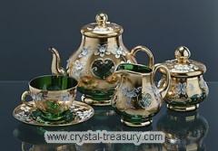 green tea set (15pcs)